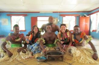 meeting some locals on Yanuya Island