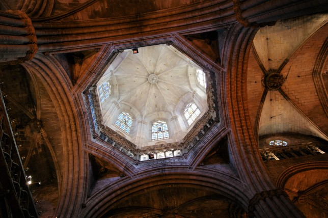 The dome of Catedral de Barcelona