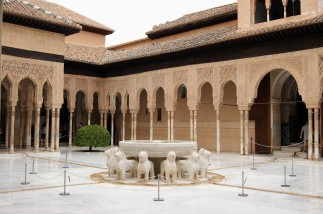Court of the Lions - Nasrid Palace in The Alhambra, Grenada