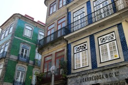 The beautiful tiled buildings of Porto
