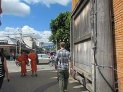 Walking through the Tha Phae Gate into Chiang Mai's old city