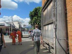 Walking through the Tha Phae Gate into Chiang Mai's old city