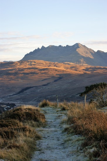 The Cuillin ranges on the Isle of Skye