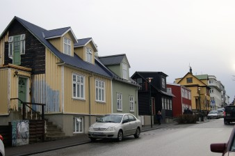 Colourful houses on Skólavörðustígur