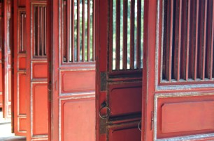 Door in Minh Mang's tomb - outside Hue