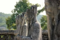 Statue at tomb of Khai Dinh - outside Hue